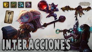 Poppy | Interacciones a campeones y objetos [League of Legends]