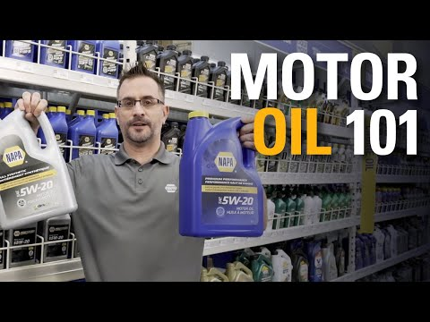 Motor Oil | NAPA Shopping Know How