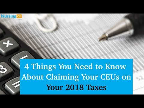 4 Things You Need to Know About Claiming Your Nursing Continuing Education Courses on Your Taxes