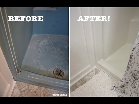 Diy Shower And Tub Refinishing How To Paint An Old Shower Thrift