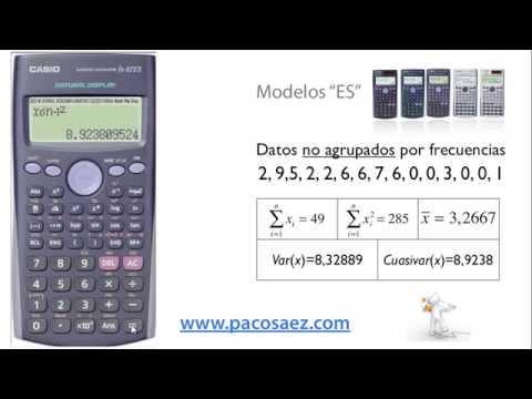 3.Calculadoras CASIO: Estadística descriptiva.
