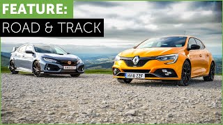 2018 Renault Megane RS Cup vs Honda Civic Type R - Road and Track Battle /w Tiff Needell
