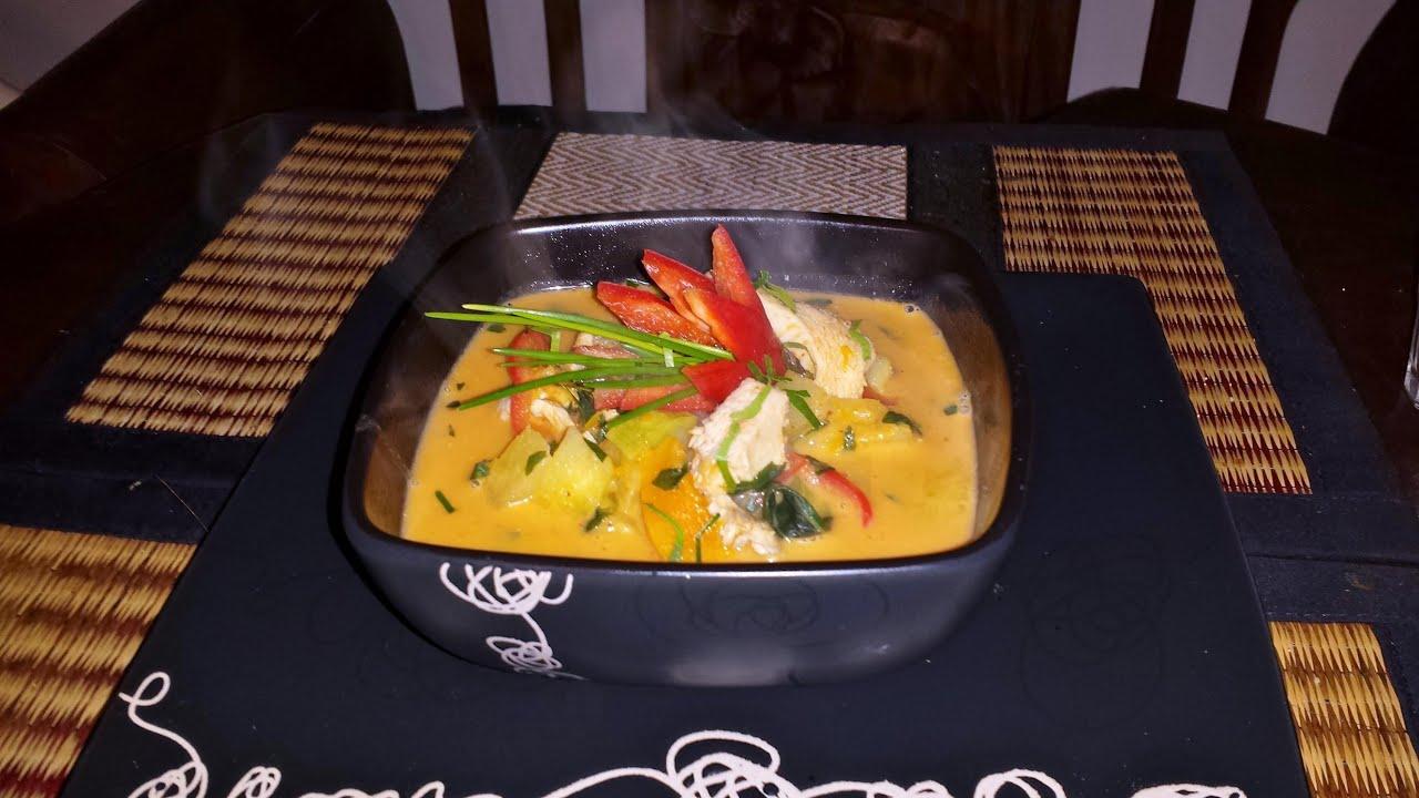 Tajskie Czerwone Curry Z Kurczakiem I Ananasem แกงไก ใส ส บปะรด By