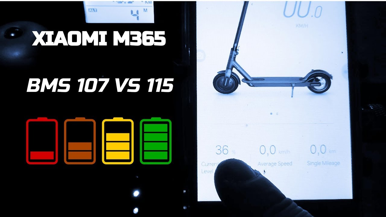 BMS 107 VS 115 XIAOMI M365