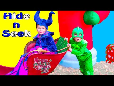 The Assistant as Maleficient and the BatBoy PJ Masks Gekko Play Hide n Seek