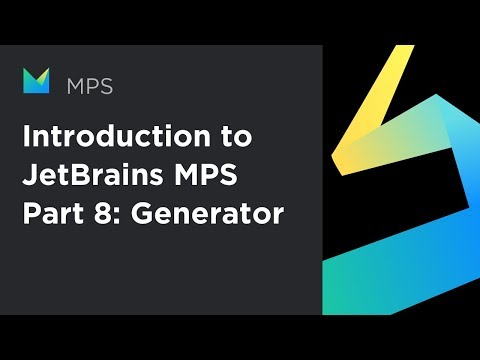 Introduction to JetBrains MPS, part 8: Generator