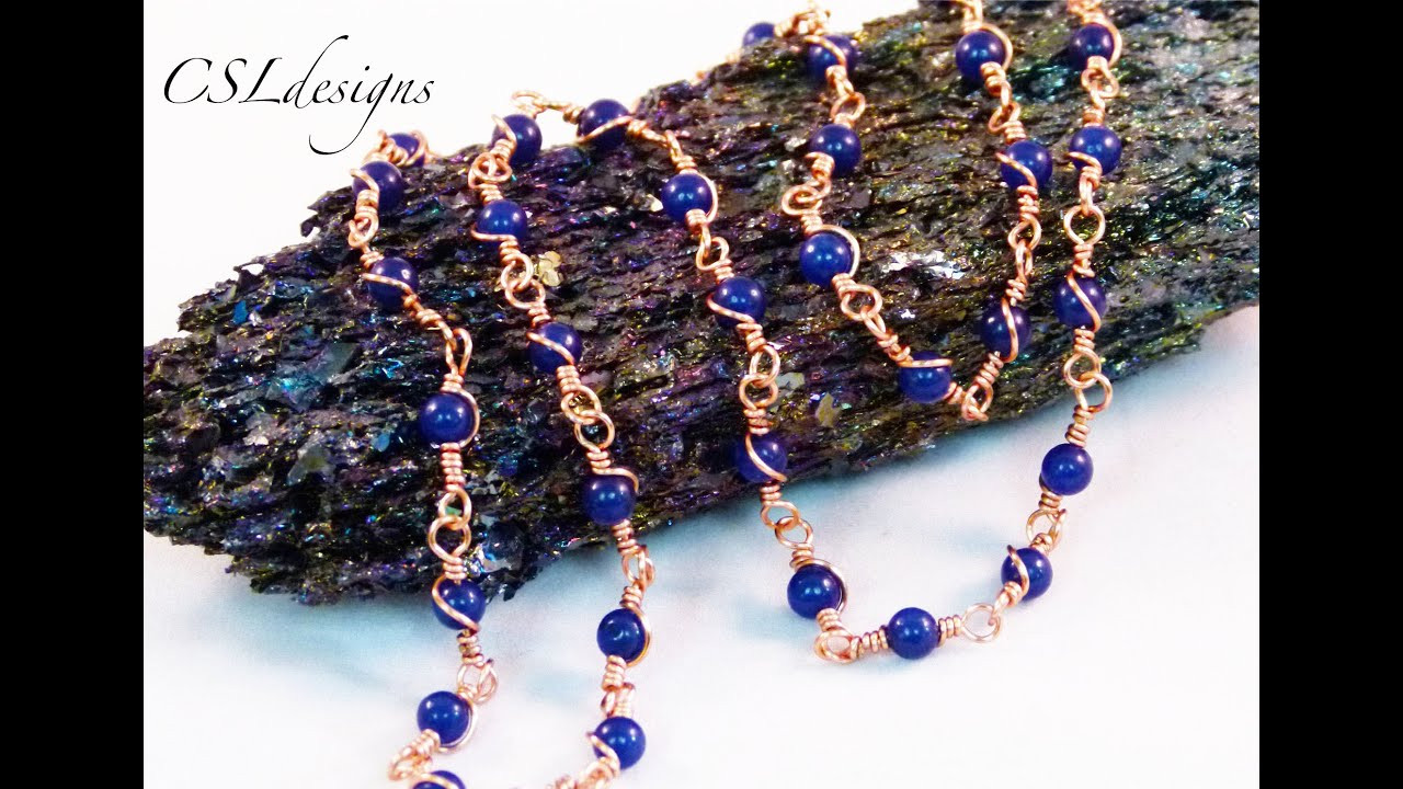 Wire wrapped loop gemstone chain make your own chain series wire wrapped loop gemstone chain make your own chain series youtube baditri Choice Image