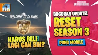 Bocoran Update RESET SEASON 3 - PUBG Mobile Indonesia