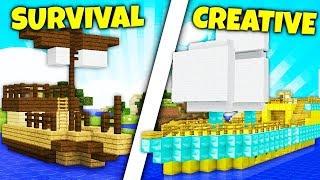 STATEK SURVIVAL vs STATEK CREATIVE! - Który ładniejszy?