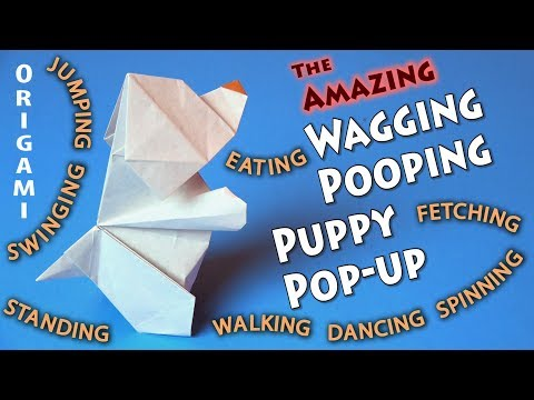 Origami Wagging Pooping Puppy Pop-up