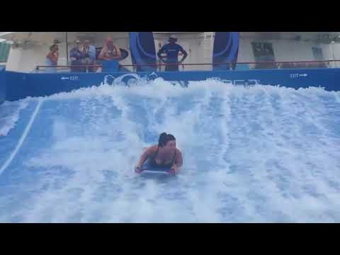 Flowrider aboard Royal Caribbean Cruise, First attempt
