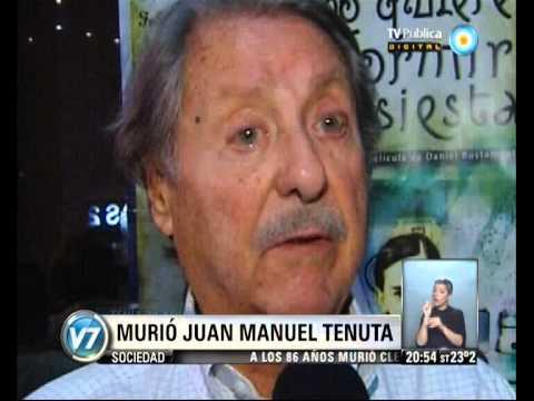 Visión 7: Juan Manuel Tenuta murió a los 89 años