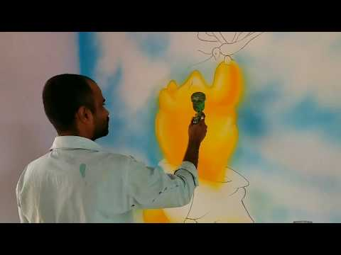 3D Wall Painting / Making of 3D wall painting / How to make 3D Wall Painting / 3D Spray Art/ 3D Draw