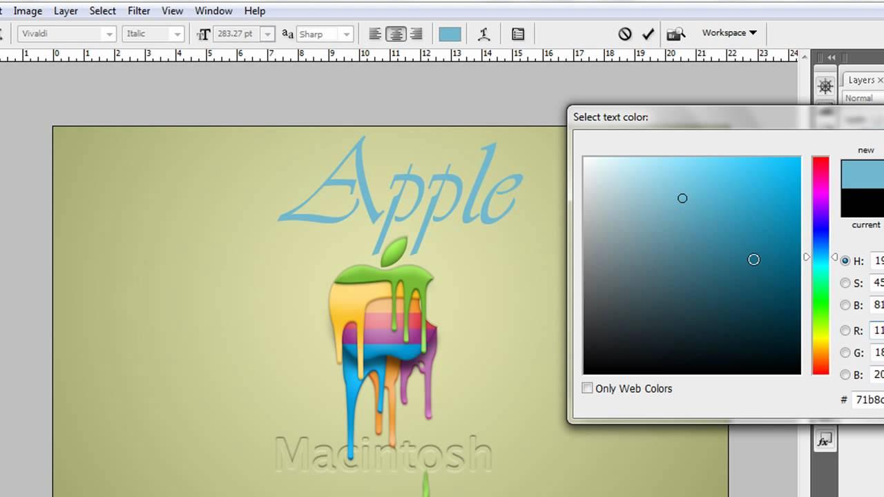 Adobe photoshop cs3 uso de la herramienta texto youtube - Herramientas de photoshop ...
