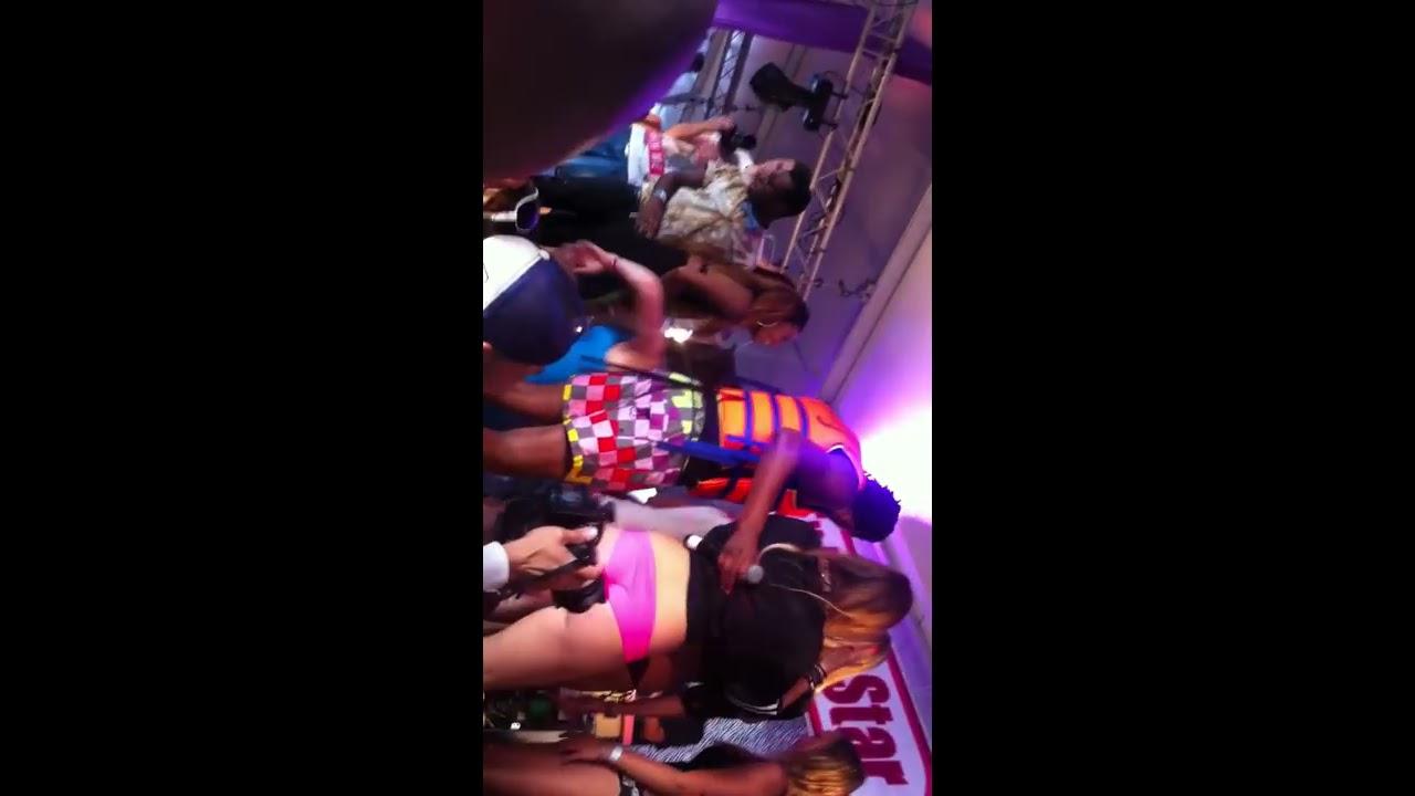 Twerk Battle at The EX Porn Star BootyCall Beach party - Twerk Queen Louise Winning