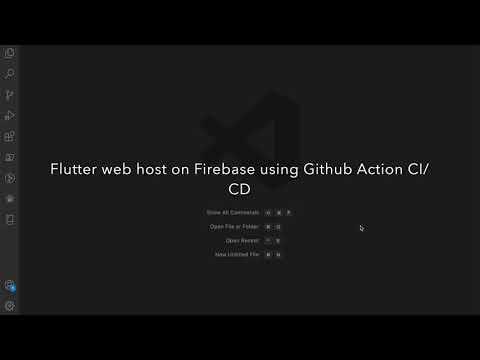 Flutter web hosting on Firebase hosting using GitHub Action CI/CD #flutter #web #cicd #githubaction