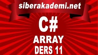 C# - Array - Ders 11