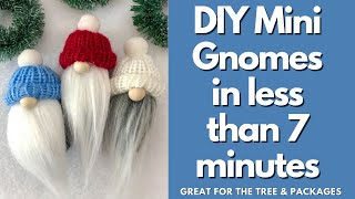 No Sew Gnomes in less than 7 minutes  great for Christmas