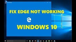 Fix Edge Not Working | Microsoft Edge Not Opening | Repair Microsoft Edge In Windows 10 [ SIMPLE ]