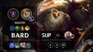 Bard Support vs Rakan - EUW Master Patch 11.15