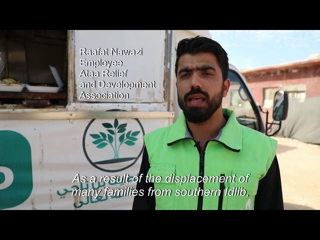 Food truck ferries meals to Syria's displaced in northern Idlib   AFP