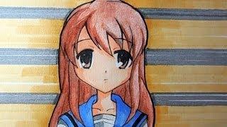 Как нарисовать аниме. Микурочка. Mikuru Asahina.