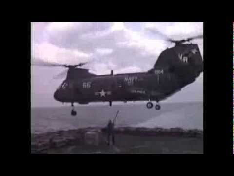 H-46 aerial ballet  Hauling bombs for USS Midway 1991 (HC-11 DET-4)