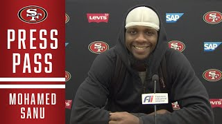Sanu discussed the process of relearning kyle shanahan's playbook, getting a fresh start with 49ers and his first impressions team.#49ers #sanu #s...