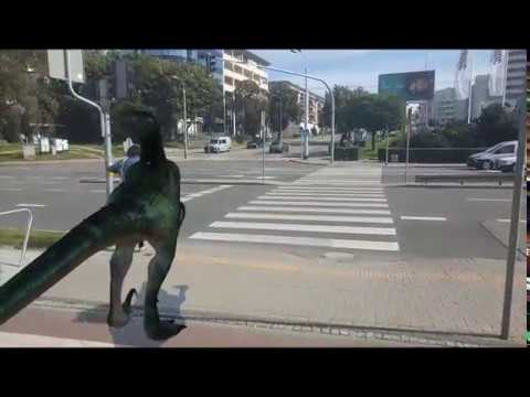 ARCore experiment: Raptor always cross on the green light