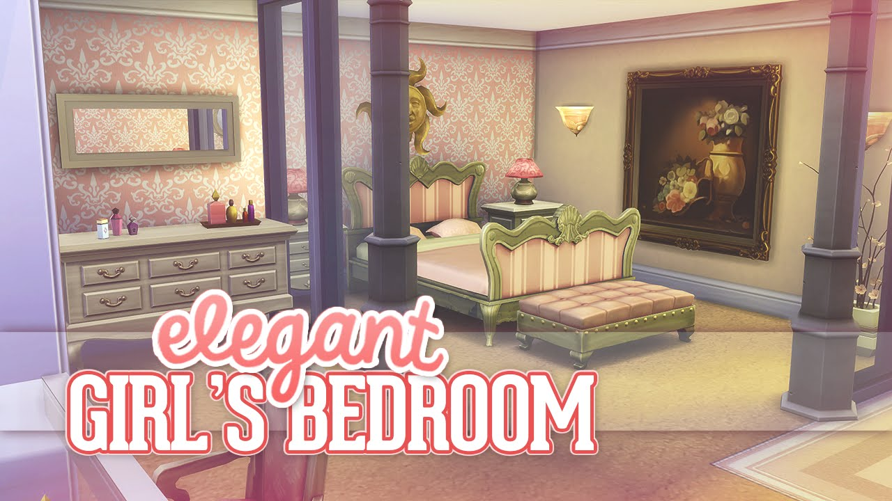 Delicieux The Sims 4: Room Build | Elegant Girlu0027s Bedroom   YouTube