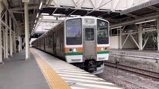 上越線水上行き高崎駅発車211系(A36編成)