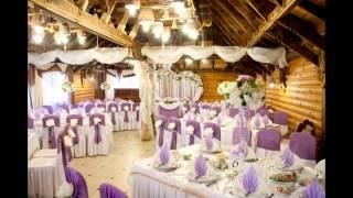 видео украшение зала на свадьбу