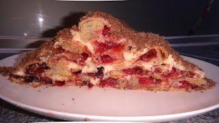 Монастырская Изба | Торт с вишней #edblack #тортмонастырскаяизба