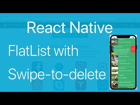19-FlatList#3 How to swipe to delete an Item in FlatList