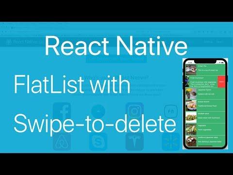 19-FlatList#3 How to swipe to delete an Item in FlatList