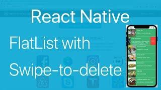 19-FlatList#3.How to swipe to delete an Item in FlatList