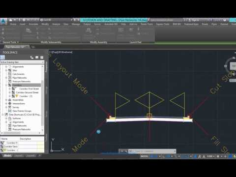 Create and intersection using Civil 3d
