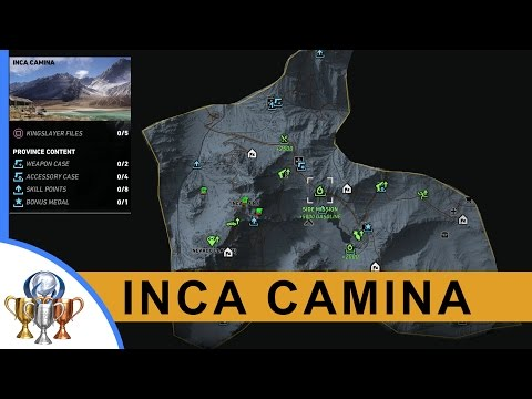 Ghost Recon Wildlands Kingslayer Files, Legends, Documents, Weapons, Medals, Skills (Inca Camina)