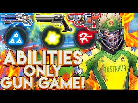 OVERWATCH ABILITIES ONLY GUN GAME! l OVERWATCH CUSTOM GAME!