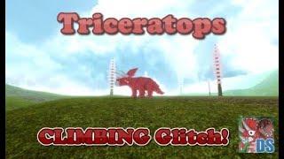 ROBLOX Dinosaur Simulator - Triceratops climbing GLITCH!