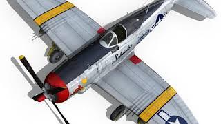 3D Model of Republic P-47D Thunderbolt - Schmaltzie Review