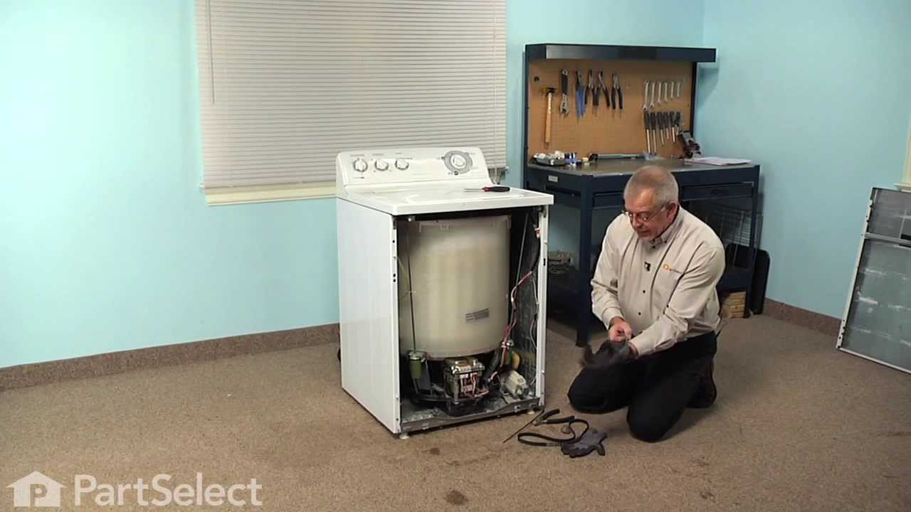 small resolution of washing machine repair replacing the drive belt ge part wh01x10302 youtube