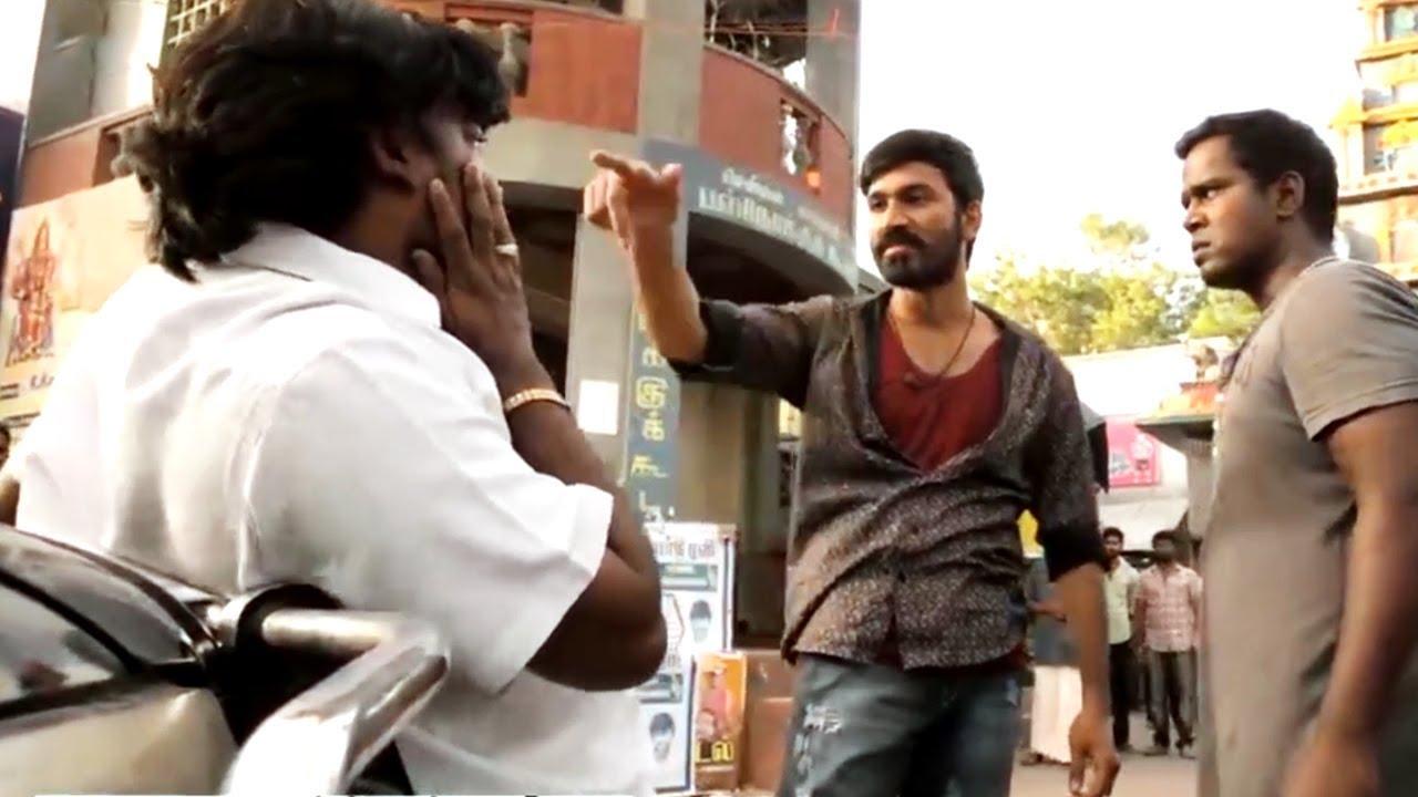 Download Maari (Maari Returns From Jail Scene) | Dhanush Best Entry Scene From Movie Rowdy Hero