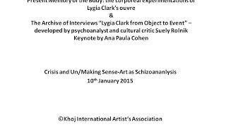 Crisis and Un/Making Sense : Keynote by Ana Paula Cohen