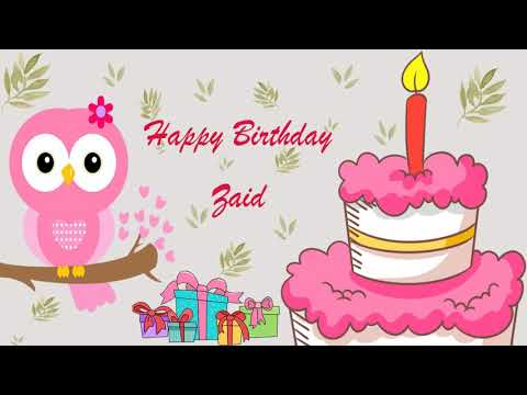 Happy Birthday Zaid Image Wishes General Video Animation