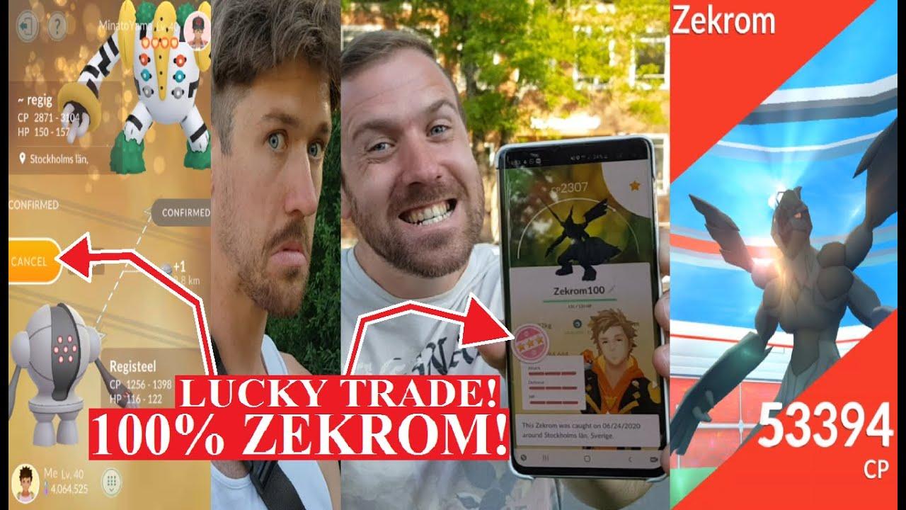 Pokemon GO på Svenska | 100% ZEKROM! | REGIGIGAS LUCKY TRADE! | Johans Pokemon GO