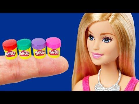 13 DIY Barbie Hacks School Supplies - Miniature Play Doh, Pencil case, Backpack, Markers