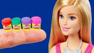 13 DIY Barbie Hacks School Supplies - Miniature Play Doh, Pencil case, Backpack, Markers