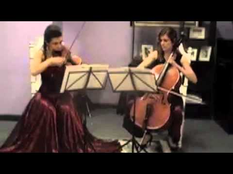 String Duo plays