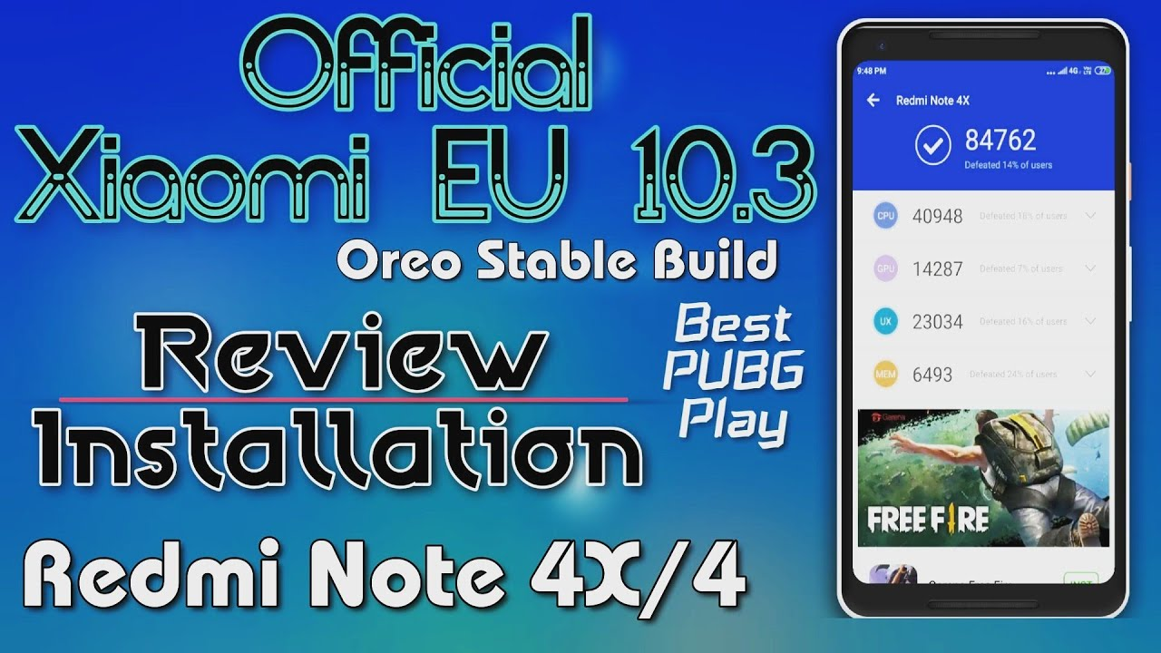 Official Xiaomi EU Oreo ROM on Redmi Note 4 | Full Review and Installation  | Stable Build - Hindi
